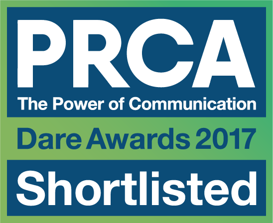 PRCA Dare Awards Shortlist Badge