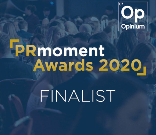 Jargon PR shortlisted in the PR Moment Awards