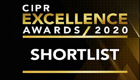 Shortlisted, PR Consultancy of the Year, PR Moment Awards 2020