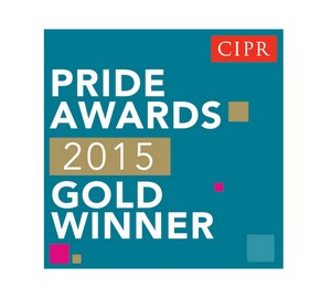 Gold Winner, Outstanding Small Consultancy, CIPR PRIDE Awards 2015