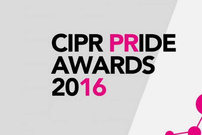 Finalist, Best Corporate and Business Communications Campaign, CIPR PRIDE Awards 2016