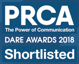 Shortlisted, Small Consultancy of the Year, PRCA Dare 2018