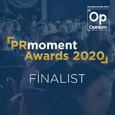 Shortlisted, B2B PR Agency of the Year, PR Moment Awards 2020