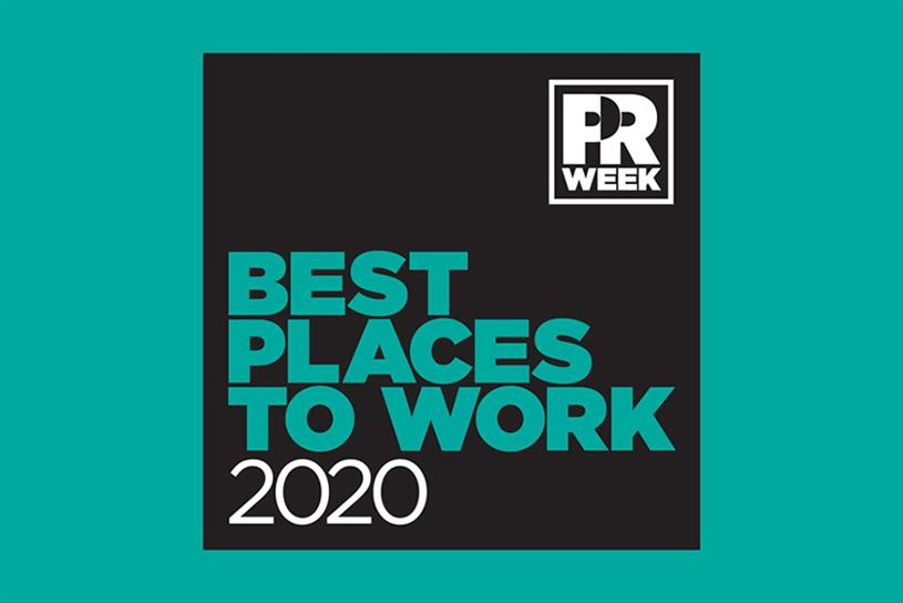 Highly Commended, Best Internship, PR Week's Best Places to Work Awards 2020